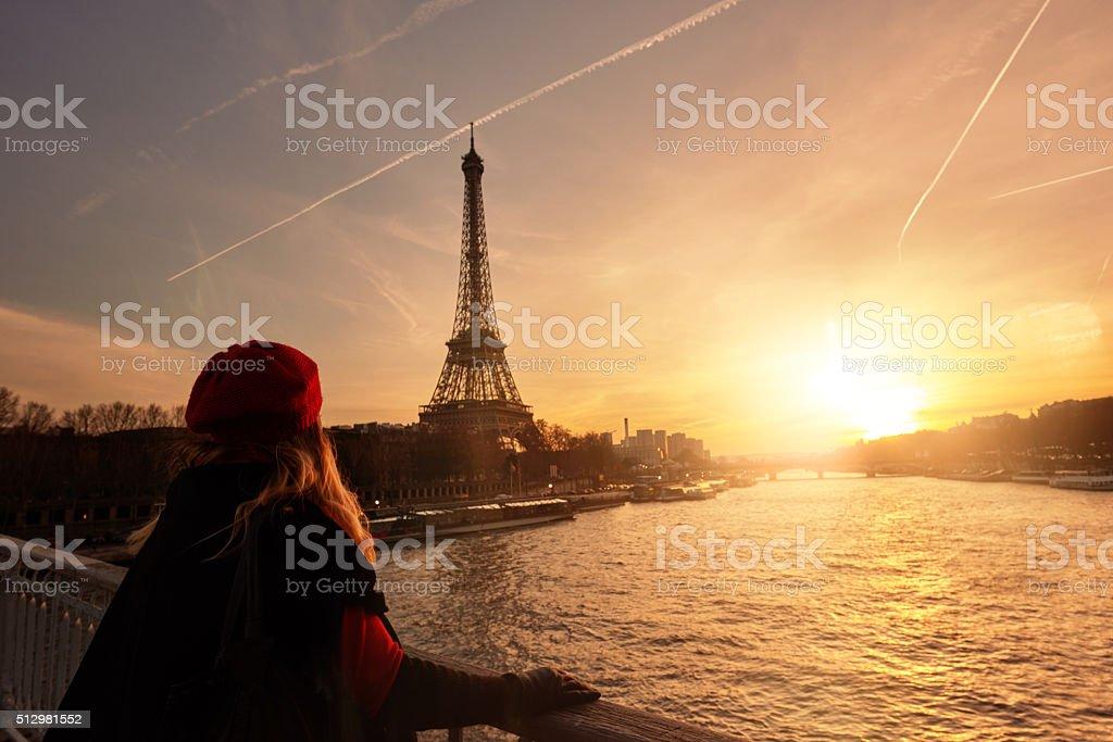 admiring the beauty of Paris stock photo