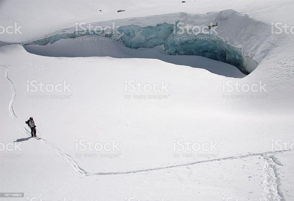 Admiring the glacier royalty-free stock photo