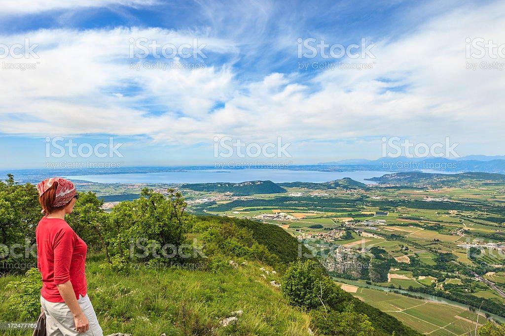 Admiring view, Italy royalty-free stock photo