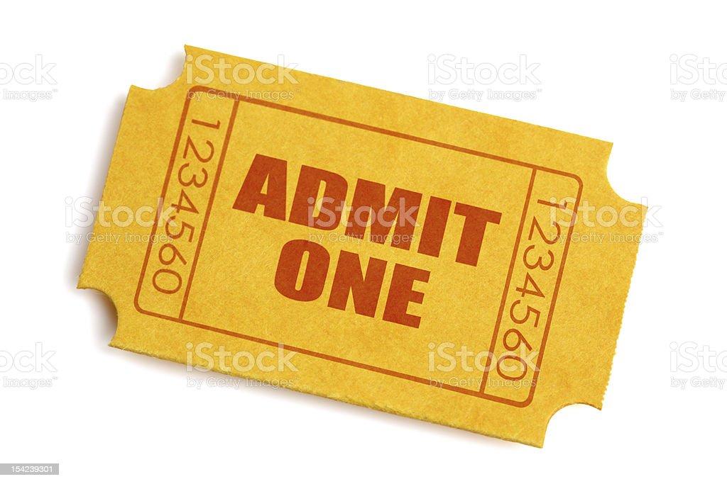 Admission ticket stock photo