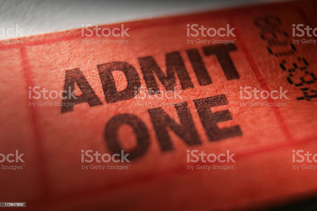 Admission Ticket royalty-free stock photo