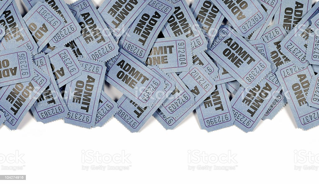 Admission tickets border royalty-free stock photo