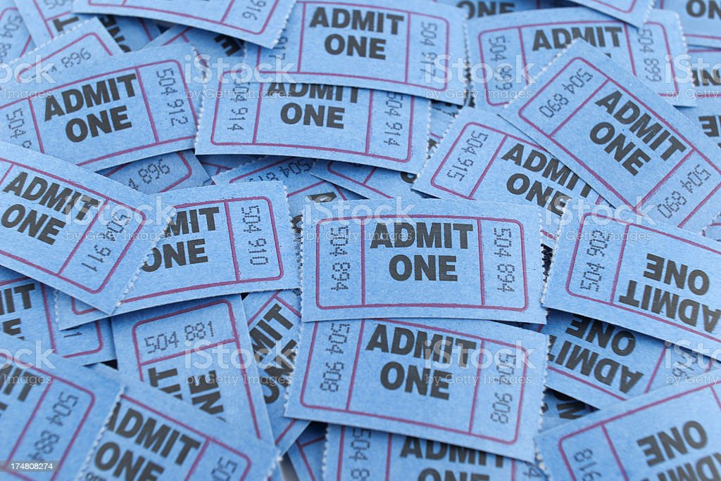 Admission Tickets royalty-free stock photo