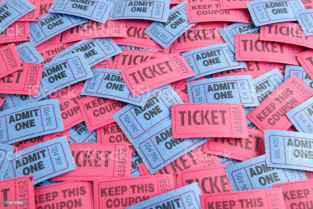 Admission Tickets stock photo
