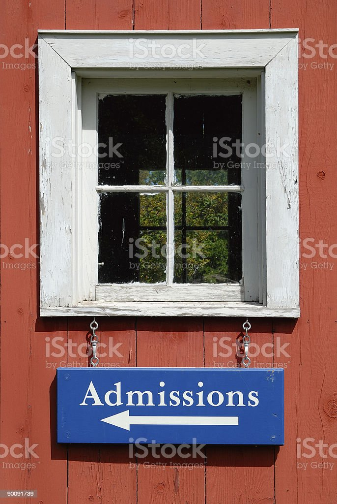 Admissions royalty-free stock photo