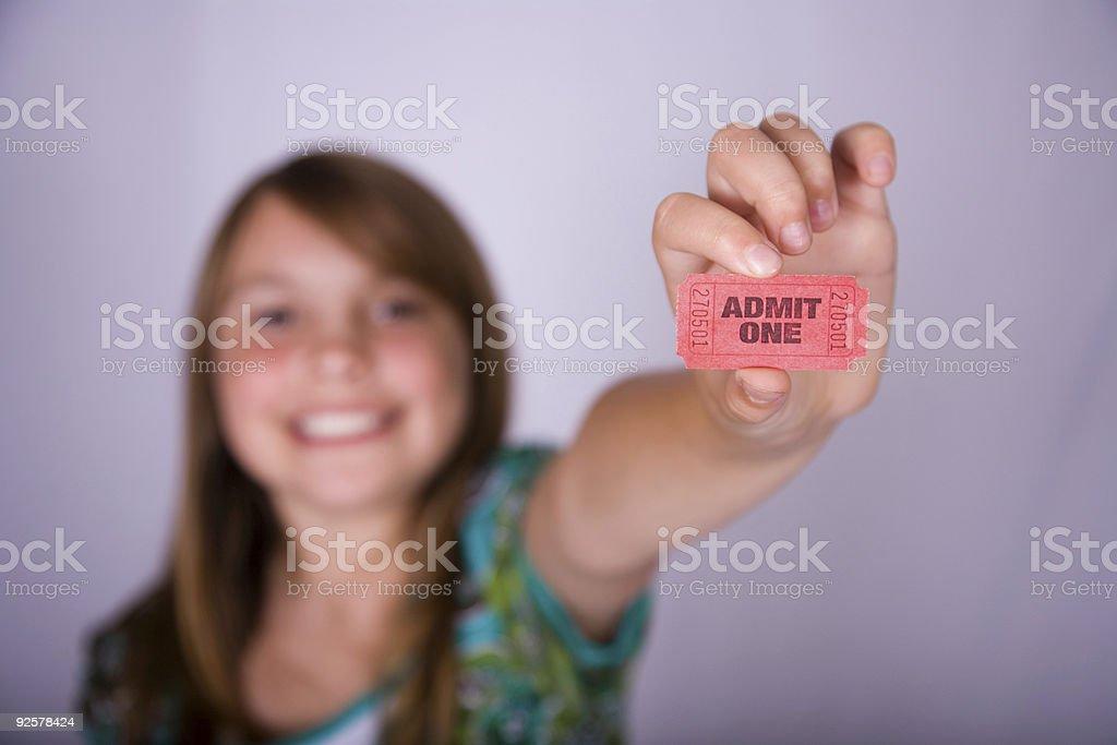 Admit One stock photo