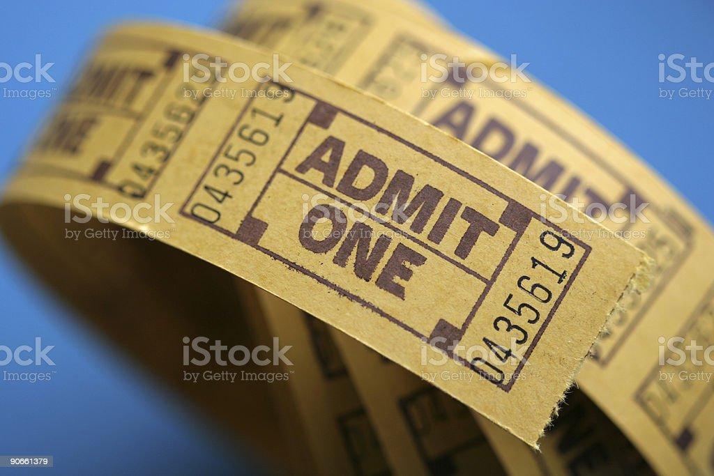 Admit One series royalty-free stock photo