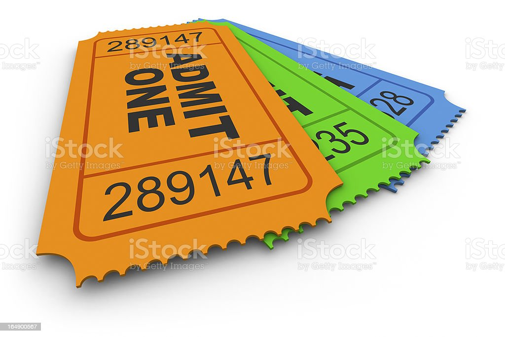 Admit One Ticket royalty-free stock photo