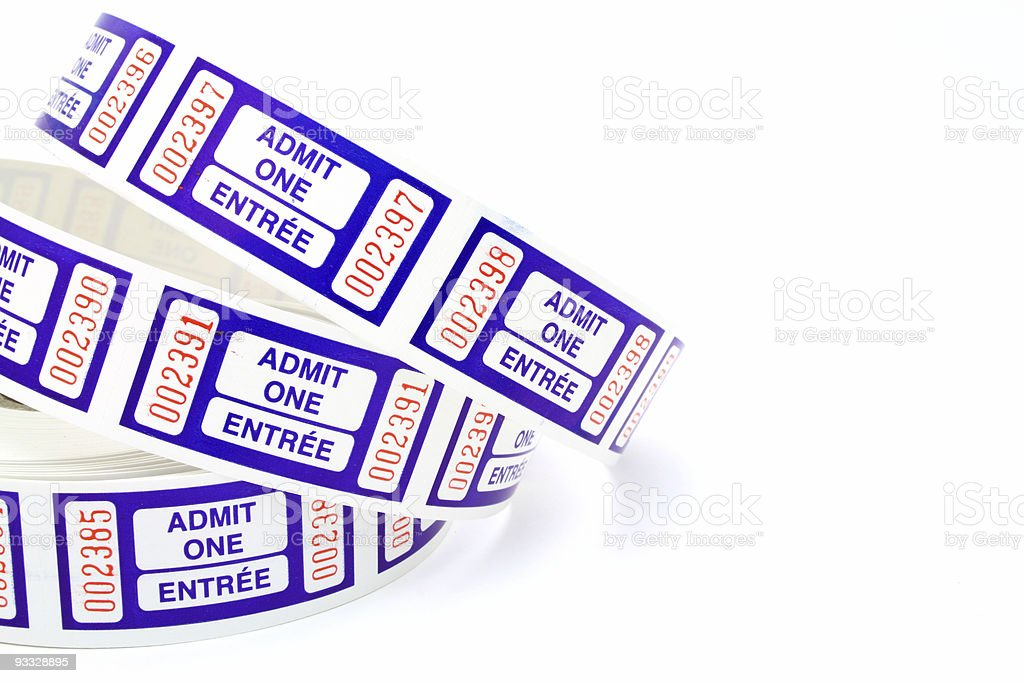 admit one ticket stock photo