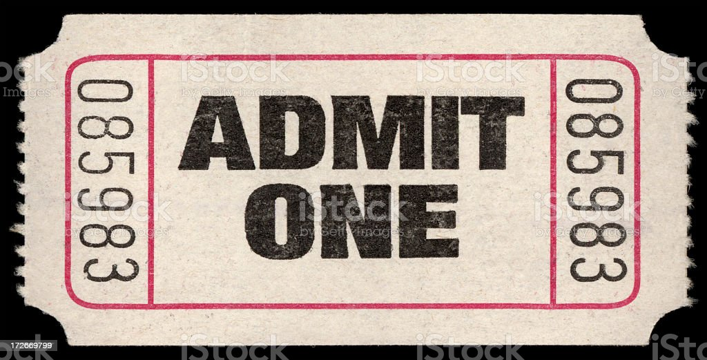Admit stub stock photo