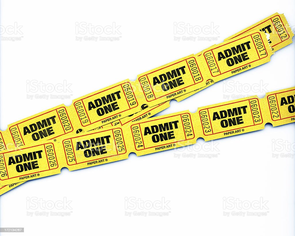 admit tickets stock photo