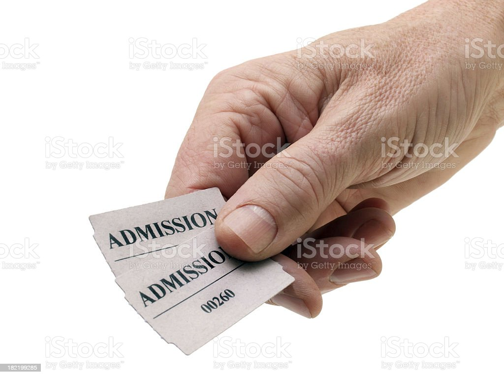 Admit Two stock photo