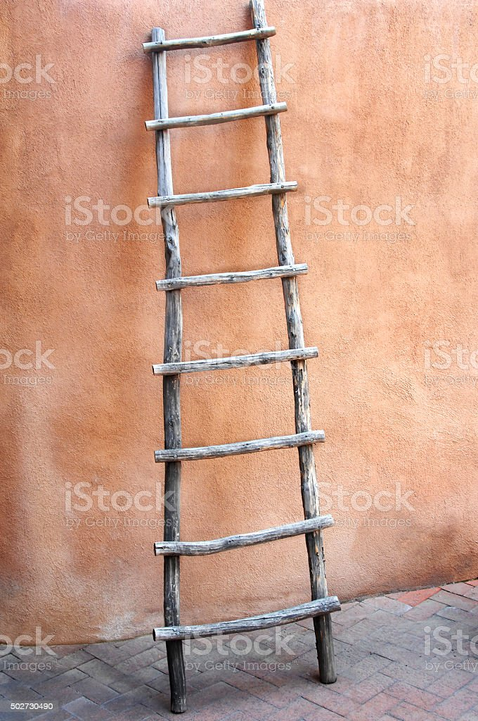 Adobe and Ladder stock photo