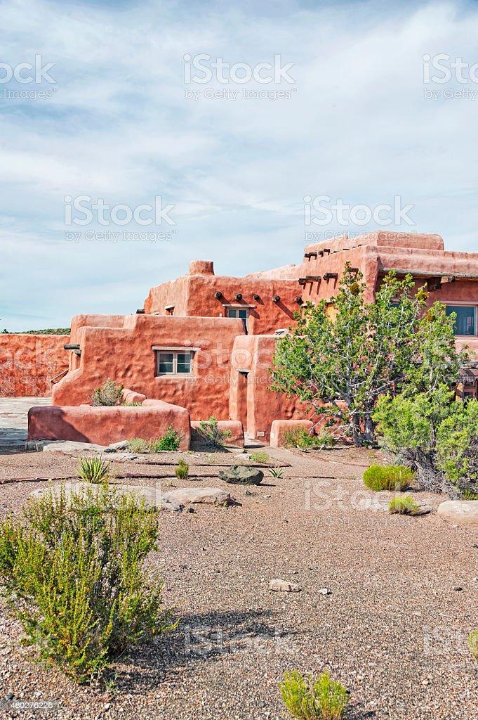 Adobe Building in Arizona stock photo