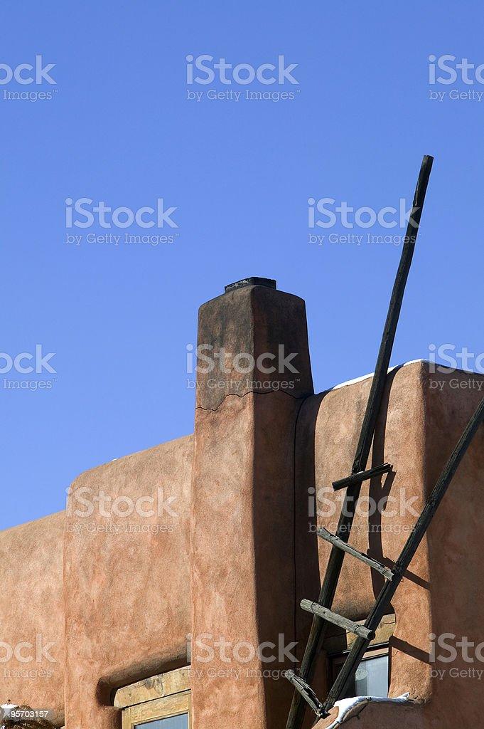 Adobe building Santa Fe New Mexico royalty-free stock photo