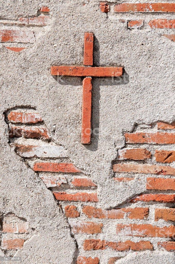 adobe cross Mission San Miguel Arcangel, San Miguel, California royalty-free stock photo