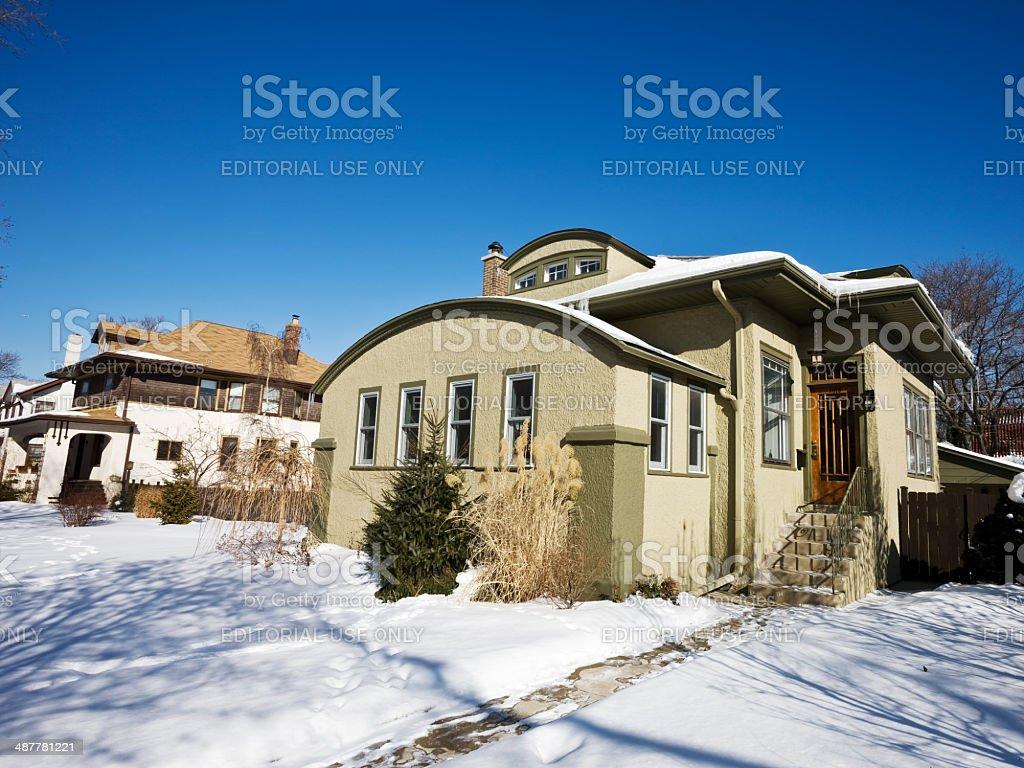 Adobe Edwardian House in Chicago royalty-free stock photo