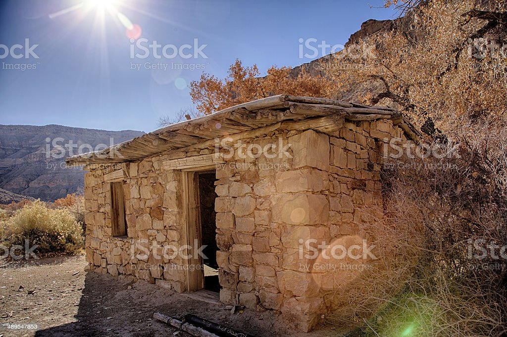 Adobe House HDR royalty-free stock photo
