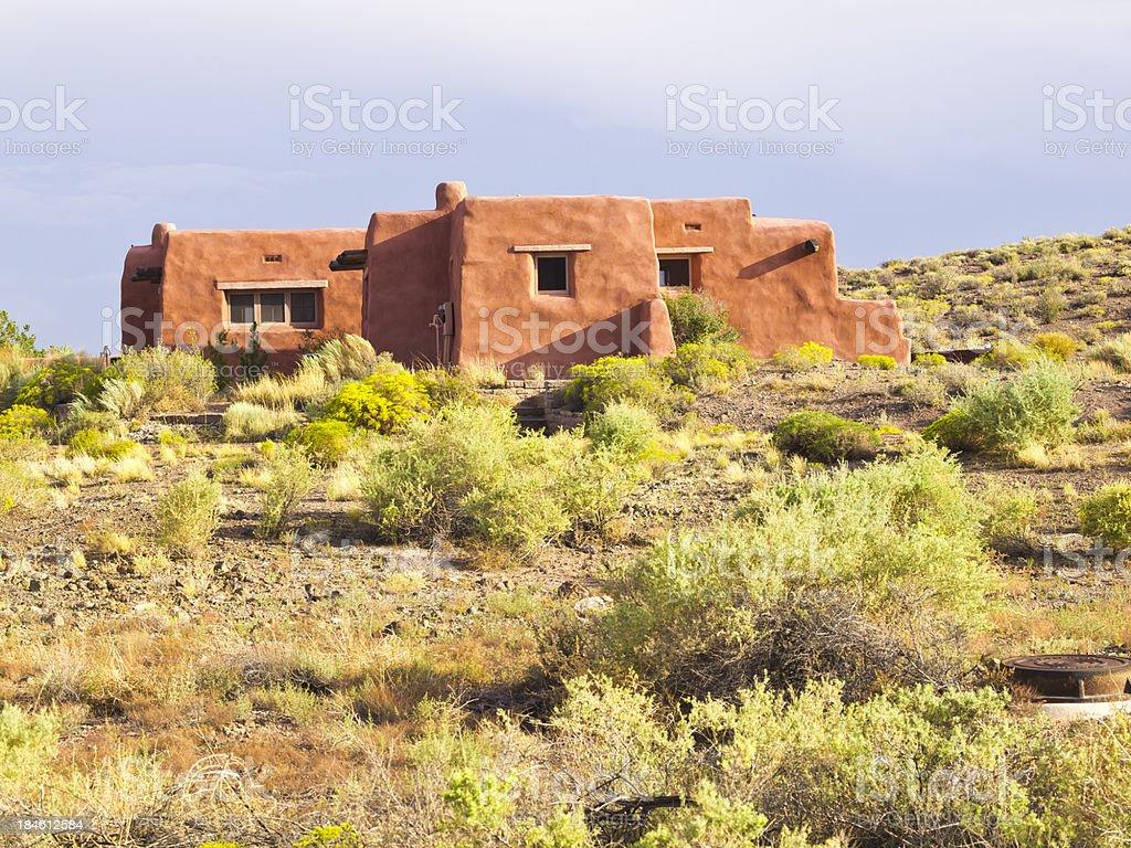Adobe house stock photo