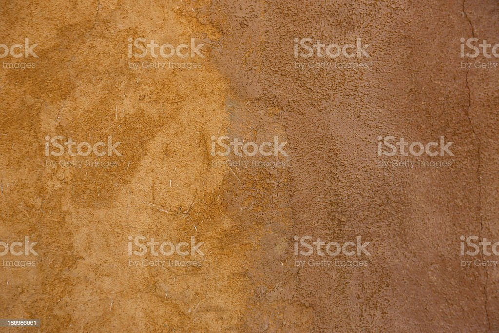 Adobe hut exterior wall royalty-free stock photo