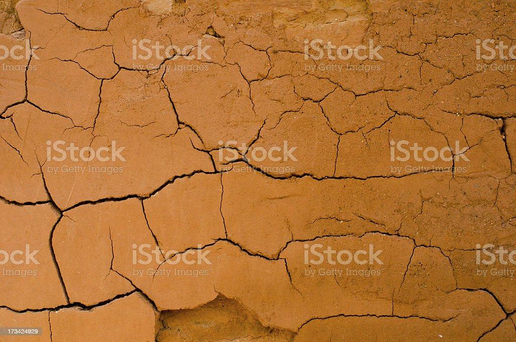 Adobe Mud at Quarai Ruins of Salinas Pueblo Missions Natio stock photo