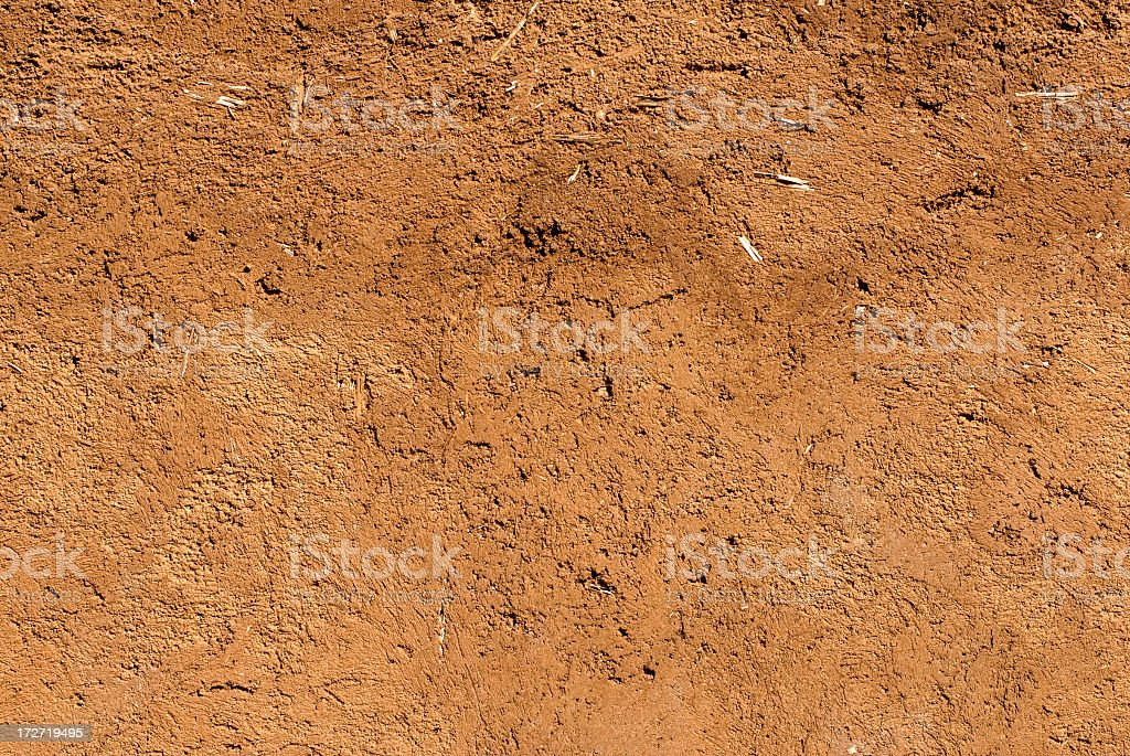 Adobe Mud Wall stock photo