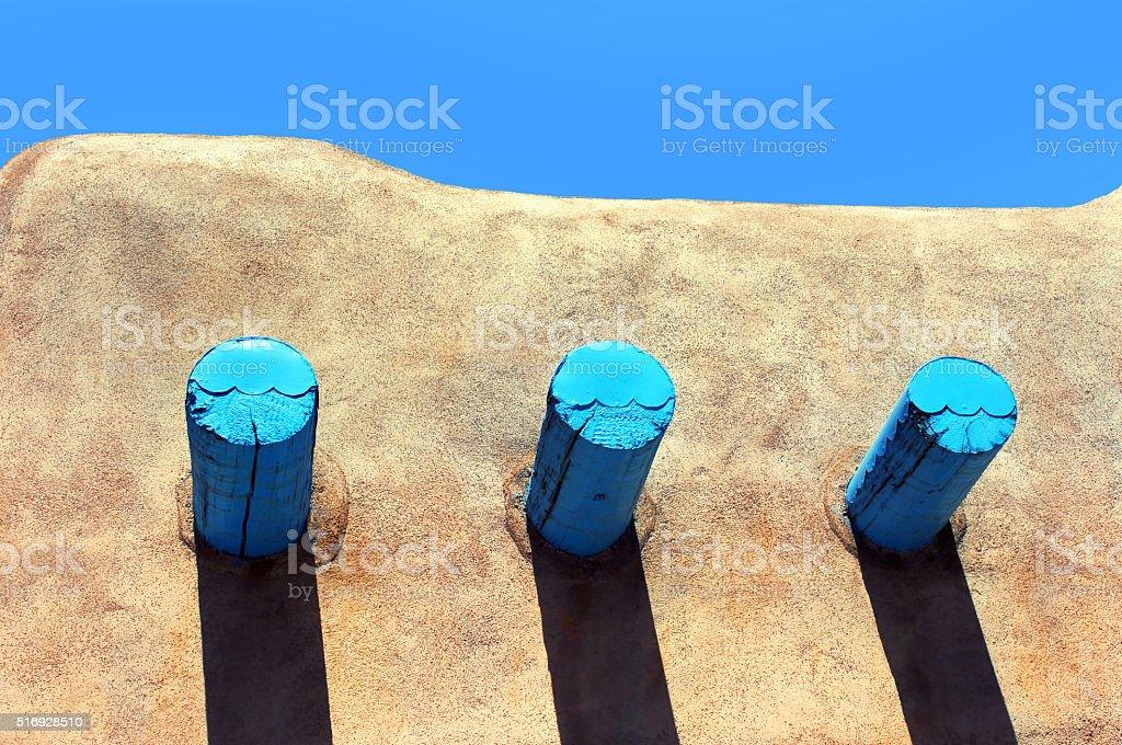 Adobe Roofline stock photo