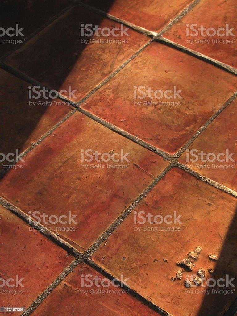 Adobe Tile floor stock photo