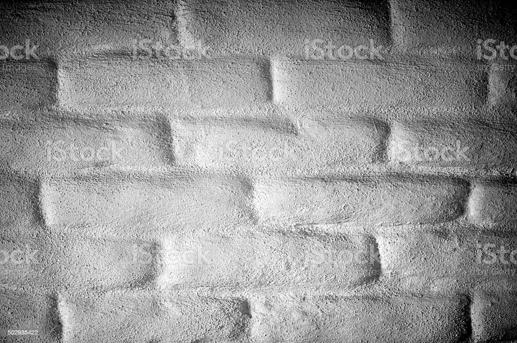 Adobe Wall Detail, White Sand Plaster Finish, Close Up stock photo