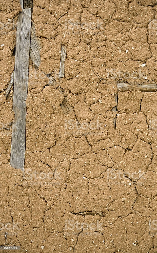 adobe wall, flat stacked background and texture royalty-free stock photo