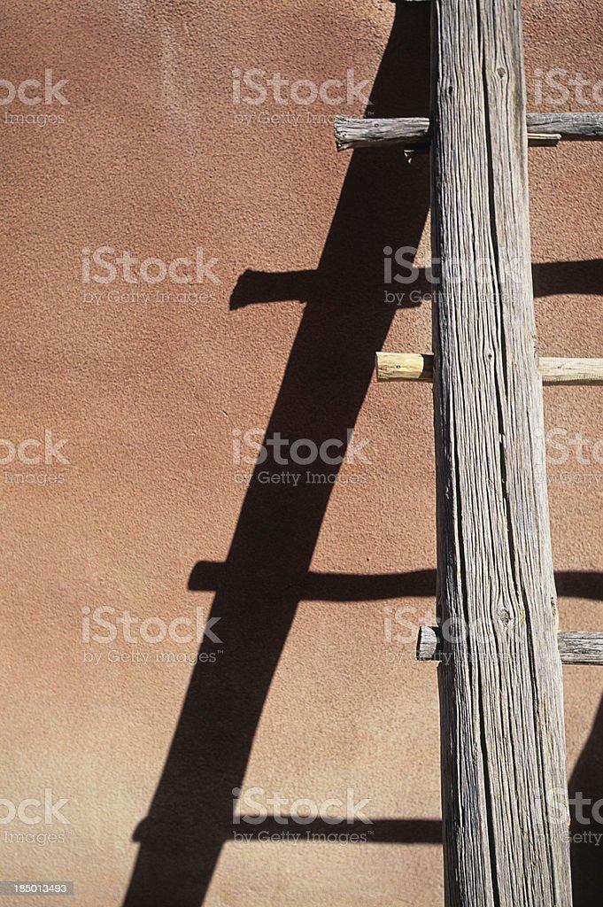 Adobe Wooden Ladder stock photo