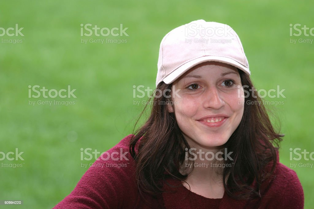 Adolescent girl smiling royalty-free stock photo