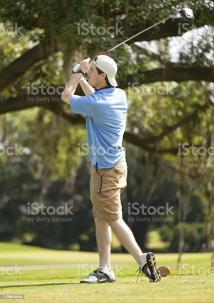 Adolescent Playing Golf stock photo