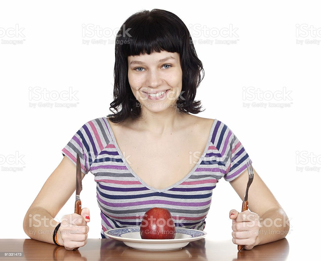adolescent to diet royalty-free stock photo