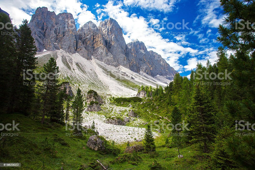 Adolf Munkel Trail in Italy stock photo
