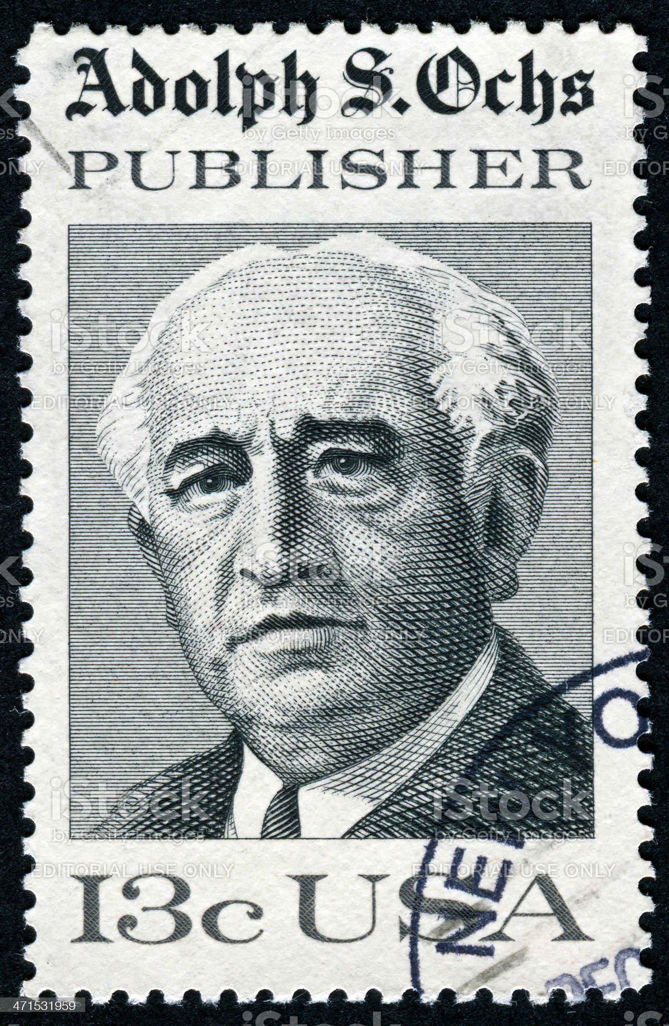 Adolph S. Ochs Stamp royalty-free stock photo