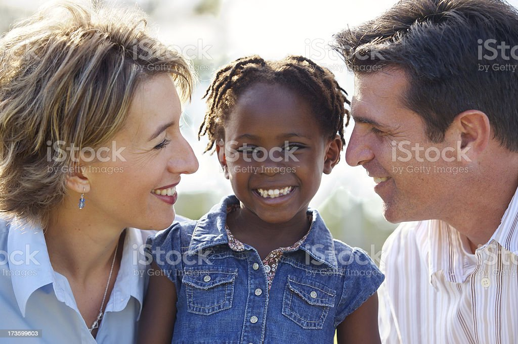 Adopted girl stock photo