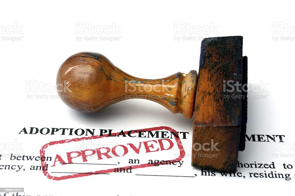 Adoption placement agreement royalty-free stock photo