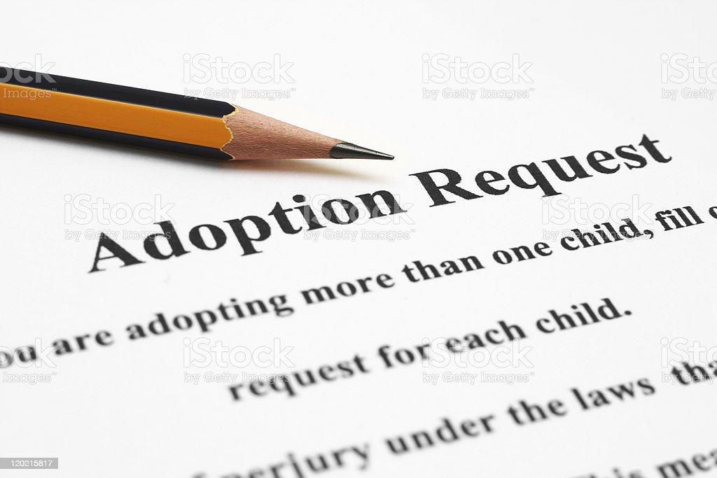 Adoption request stock photo