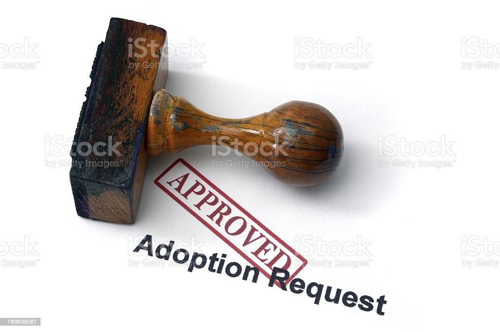 Adoption request royalty-free stock photo
