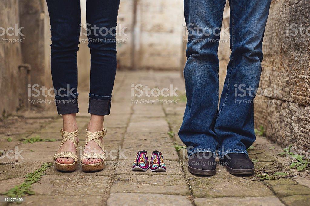 'Adoptive Parents, Chinese Baby' stock photo