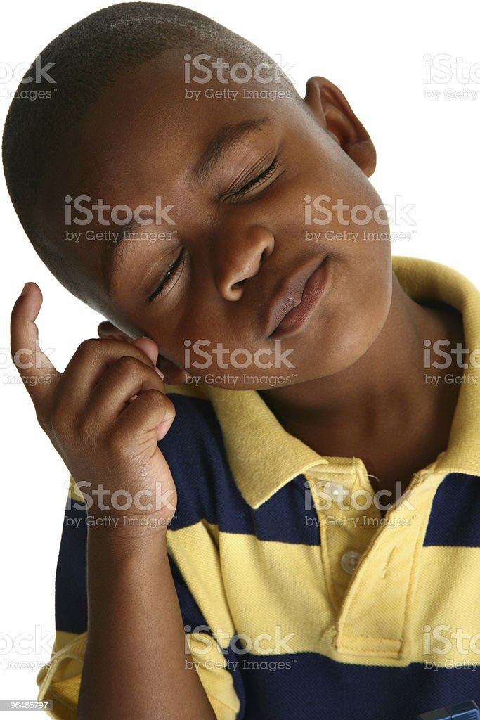 Adorable African American Boy stock photo