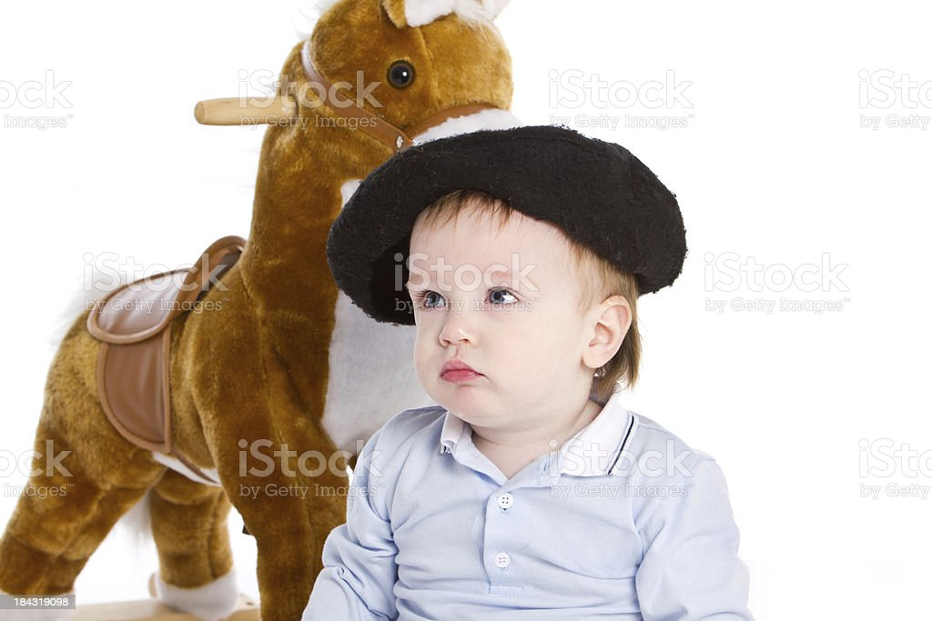 Adorable baby as argentinean gaucho royalty-free stock photo