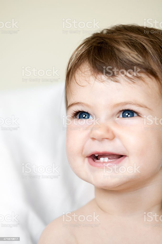 Adorable Baby Girl Smiling royalty-free stock photo
