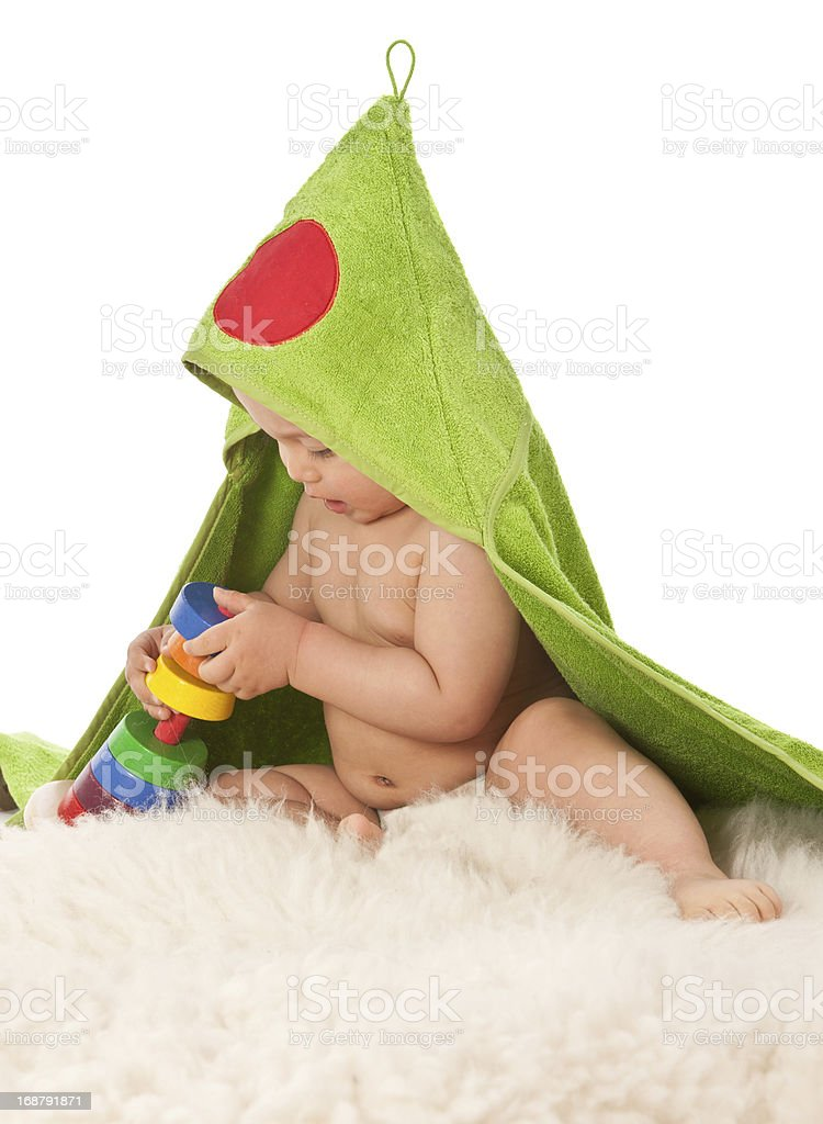 adorable baby playing royalty-free stock photo