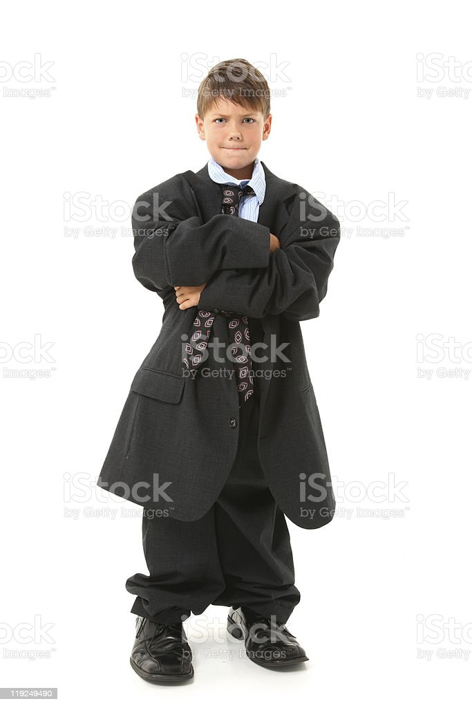 Adorable Boy in Suit stock photo