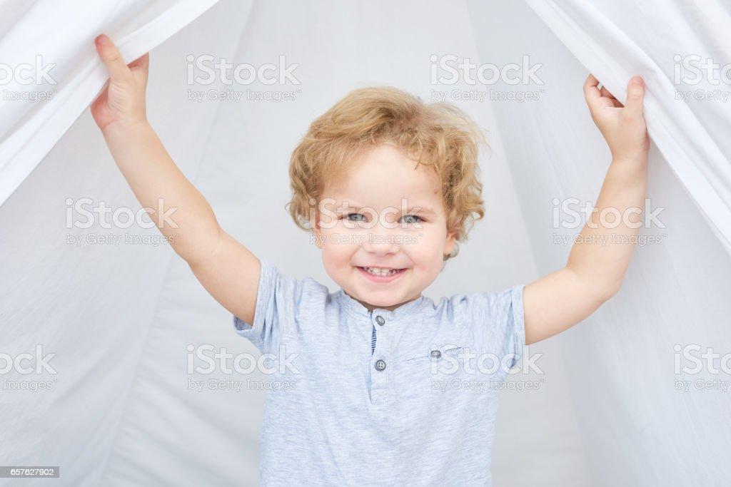 Adorable boy stock photo