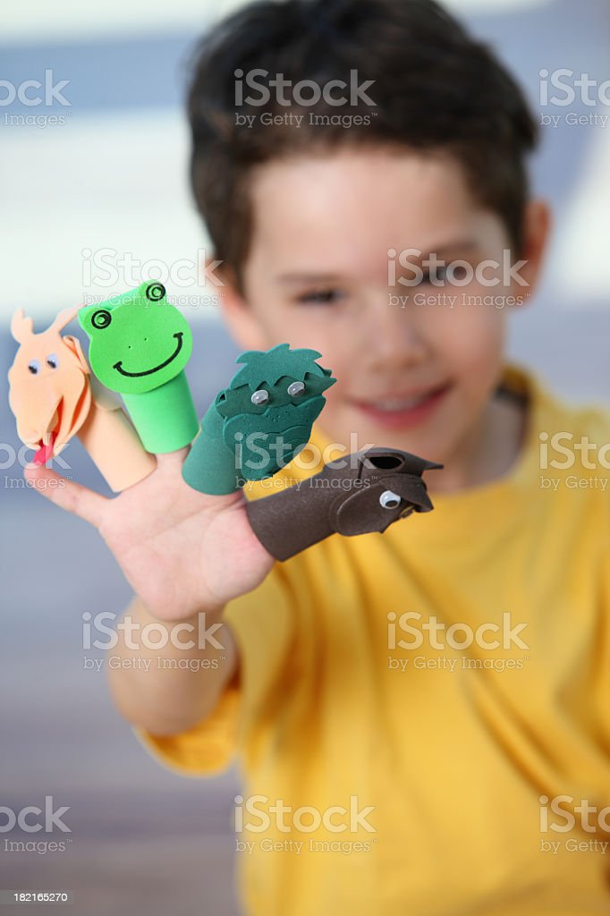 Adorable boy with toys royalty-free stock photo