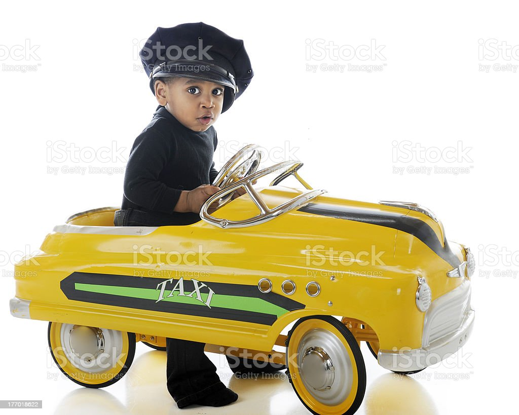 Adorable Cabbie stock photo