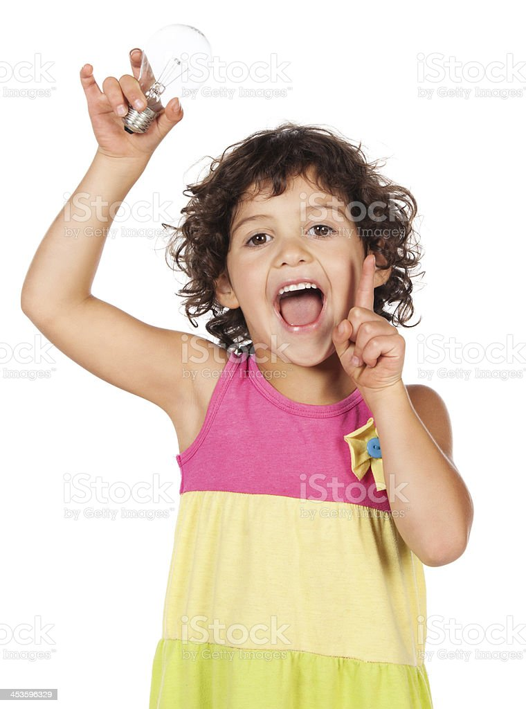 Adorable caucasian girl stock photo